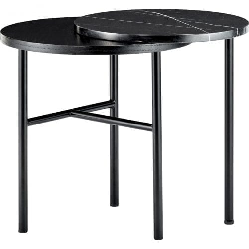 Closer Side table - Black marble-0