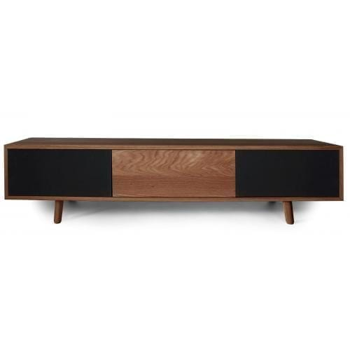 Dicaprio Media furniture - Oiled walnut-0