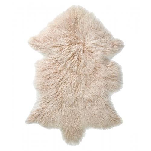 EVEREST Hosszú szőrű Báránybőr - Hideg fehér-0