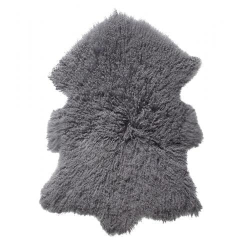 EVEREST Hosszú szőrű Báránybőr – Acélszürke-0