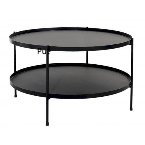 TrayTray Side table Ø60 - Black-0