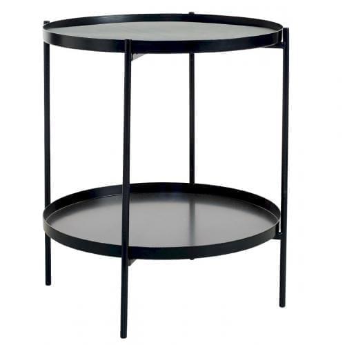 TrayTray Side table Ø38 - Black-0