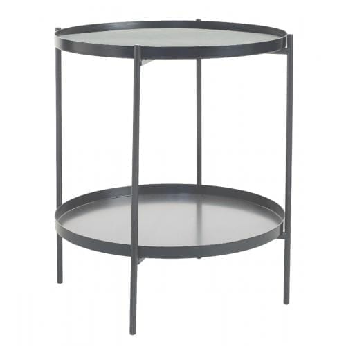 TrayTray Side table Ø38 - Grey-0