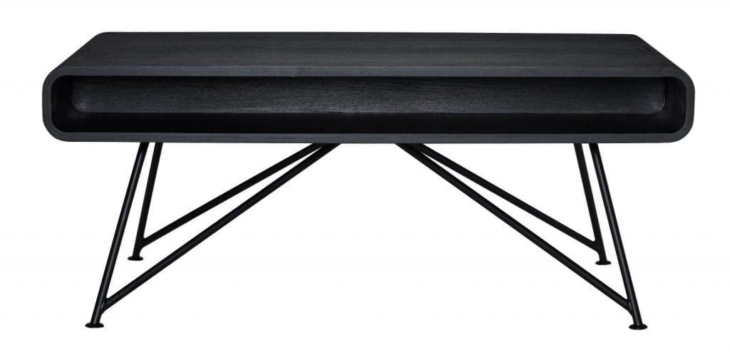 Mariposa dohányzóasztal - Fekete, fekete lábak-0