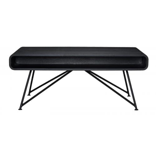 Mariposa coffee table - Black stained top, black leg-0