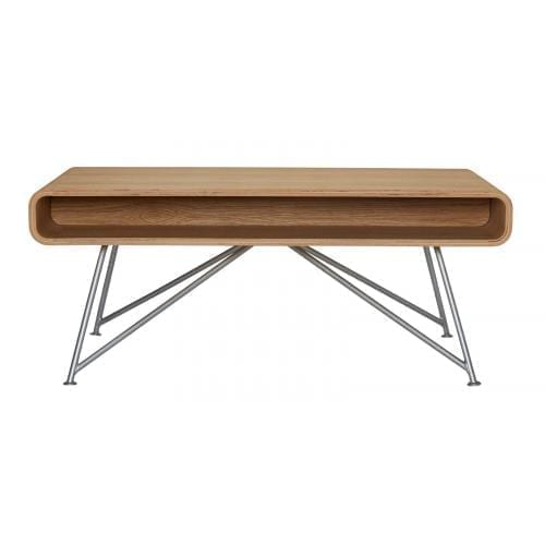 Mariposa coffee table - Oiled oak, Grey leg-0