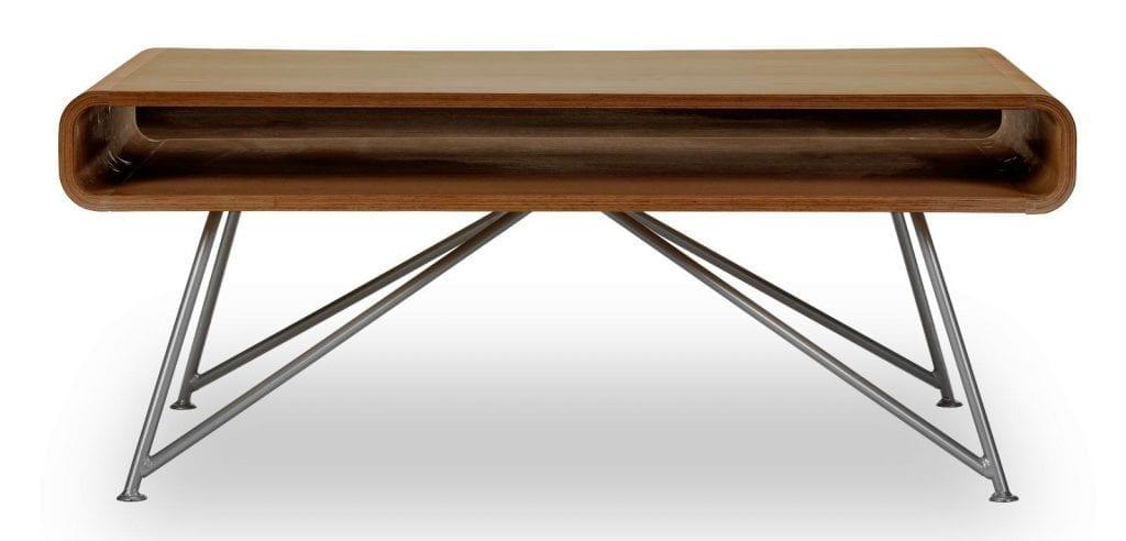 Mariposa dohányzóasztal - Diófa felsőrész, szürke lábak-0