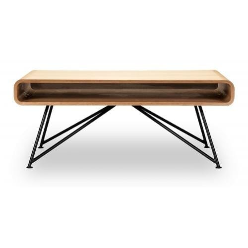 Mariposa coffee table-White Oiled Oak top, Black leg-0