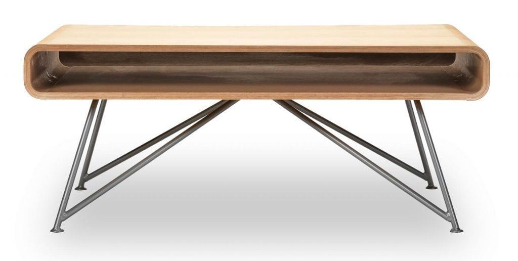 Mariposa coffee table - White oiled oak top, Grey leg-0