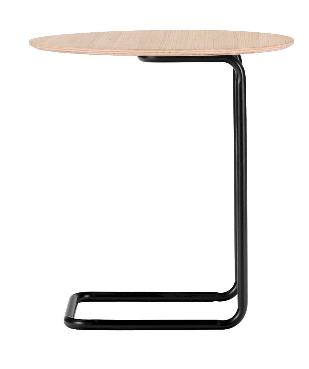 Mera kisasztal - Világos tölgy/Fekete váz-0