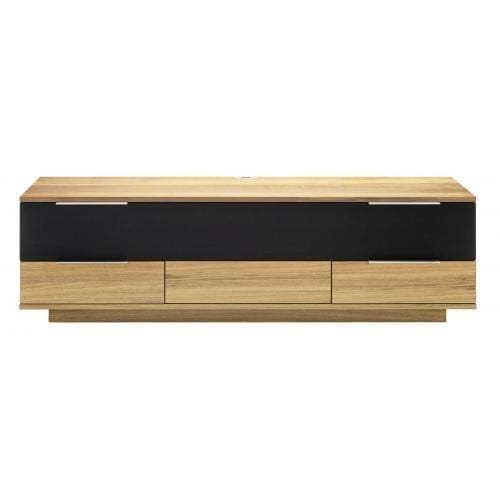 Opus2 Media furniture - Veneer, Oiled oak/black fabric-0
