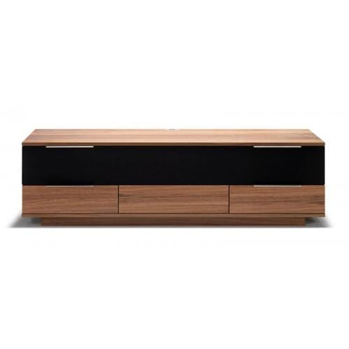 Opus2 Media furniture - Veneer, Walnut/black fabric-0