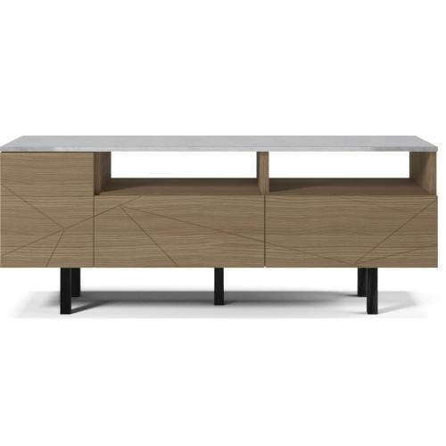 Save Media Marble Medium - Matt lacquered oak veneer, Top in marble, Black legs-0