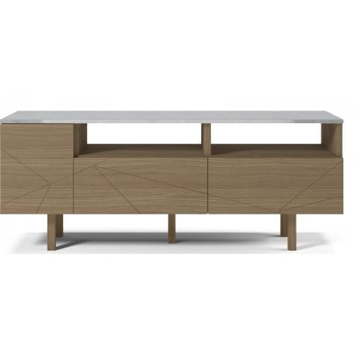 Save Media Marble Medium - Matt lacquered oak veneer, Top in marble, Oak legs-0