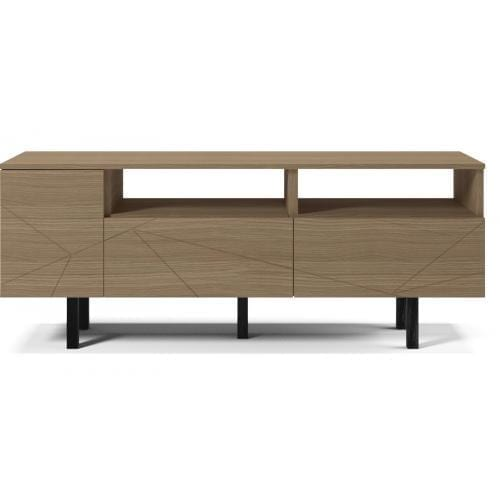 Save Media Medium - Matt lacquered oak veneer, Top in matt lacquered oak veneer, Black legs-0