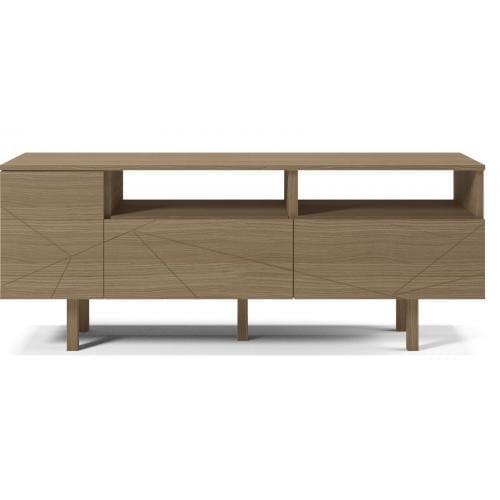 Save Media Medium - Matt lacquered oak veneer, Top in matt lacquered oak veneer, Oak legs-0