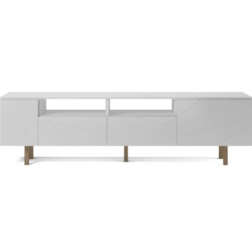 Save Media Large - White lacquered, Top in white lacquered, Oak legs-0