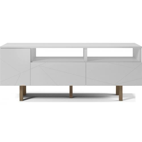 Save Media Medium - White lacquered, Top in white lacquered, Oak legs-0
