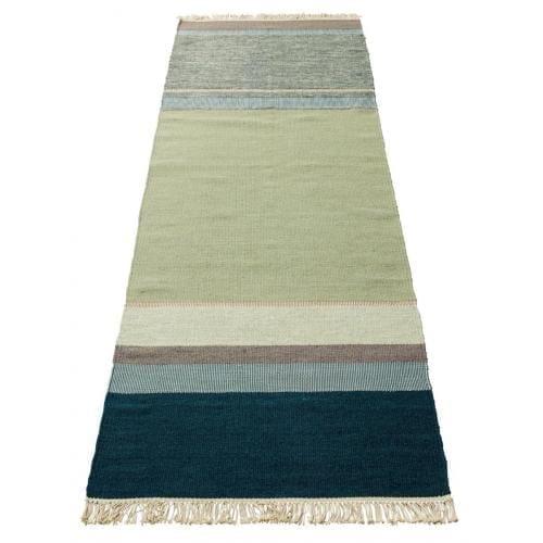 Twine rug - 80x250 - Petrol Mix-0