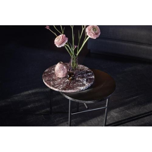 Closer Side table – Red marble-3460