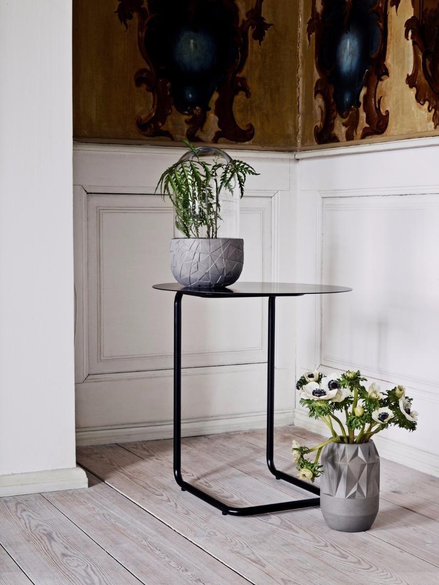 Mera kisasztal - Világos lakkozott tölgy/Fehér váz KIFUTÓ*-1534