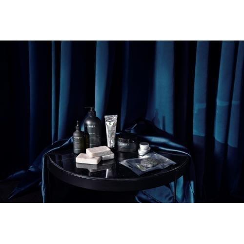 Drum dohányzóasztal – Szürke üveg, Fekete keret Ø60-3046