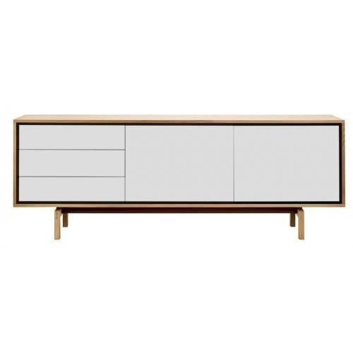 Floow large sideboard - Oiled oak/White-0