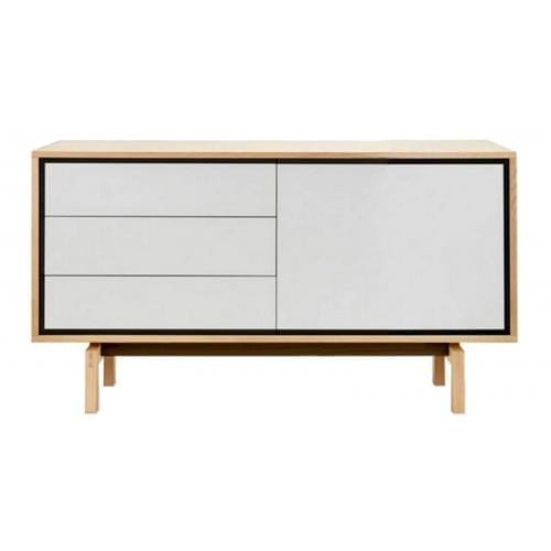 Floow small sideboard - Oiled oak/White-0