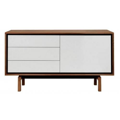 Floow small sideboard - Oiled Walnut /White-0