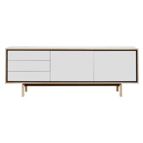 Floow large sideboard - Whitepigmented oak/White-0