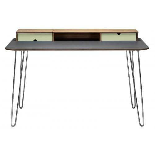 i-Work íróasztal - Diófa/Világoszöld/Matt króm-0