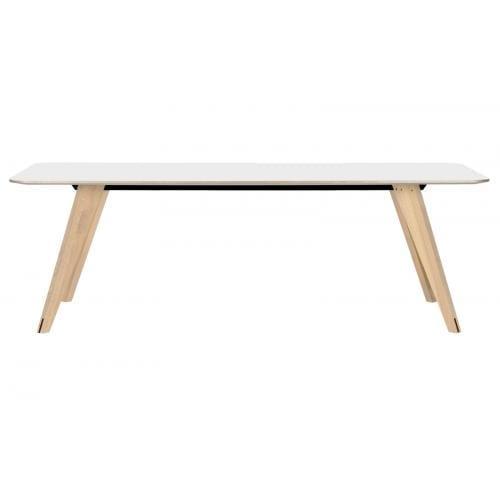 Mood négyzetes nagy étkezőasztal - Fehér tölgy/Fehér-0