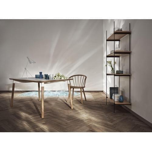 Tabola étkezőasztal 95×137,5 – Lakkozott tölgy/fehér lakkozott acél KIFUTÓ*-2581