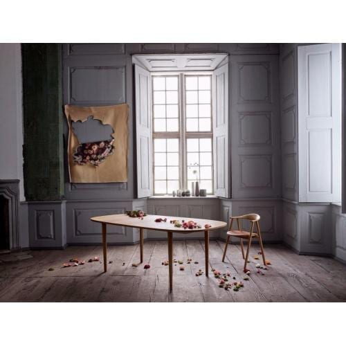 Yacht dining table 210 cm - White pigmented oak, Cone-2284