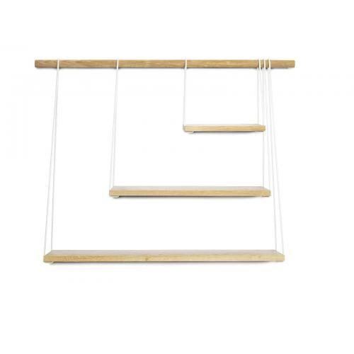 BRIDGE Polc - fehér/tölgy-0