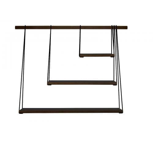BRIDGE Shelfs - smoked oak/black-0