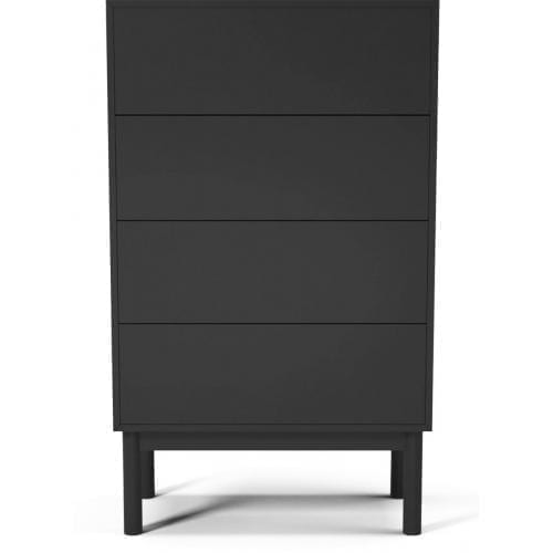Case dresser with 4 drawers - Anthracite lacquered-0