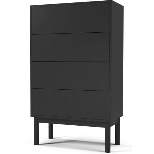 Case dresser with 4 drawers – Anthracite lacquered-4308