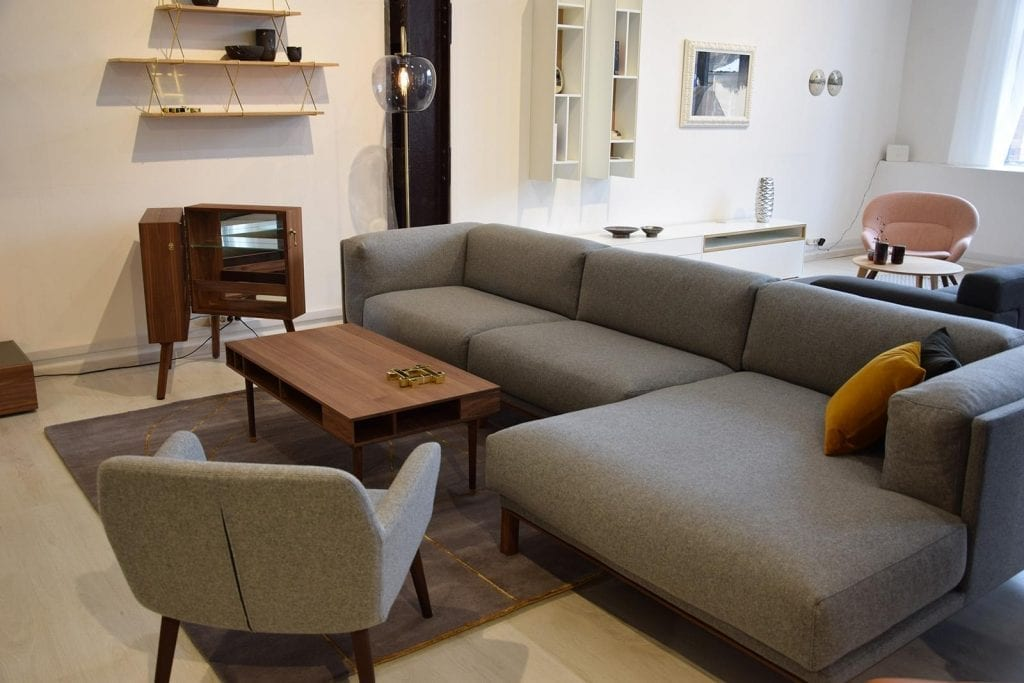 COSY 3 Seater sofa with chaise longue - Showroom furniture-6947