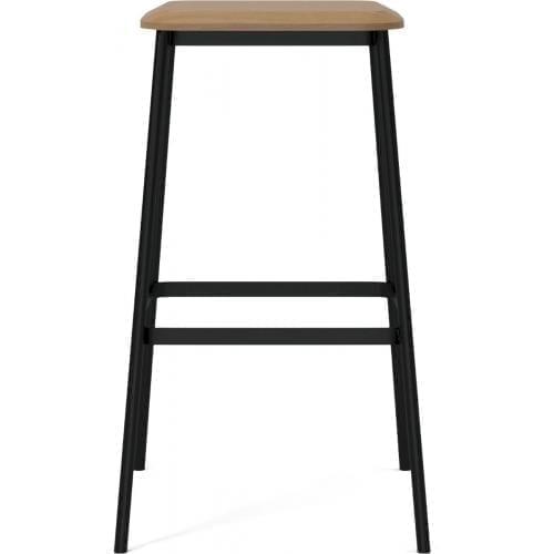 Facet high barstool – Oak-3756