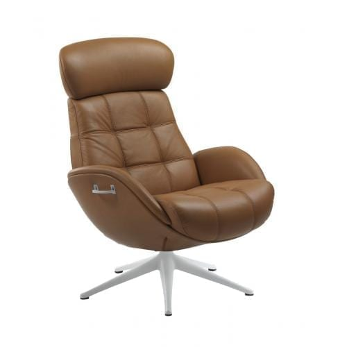 Flexlux EASE CHESTER Design chair with upholstered shell-25269