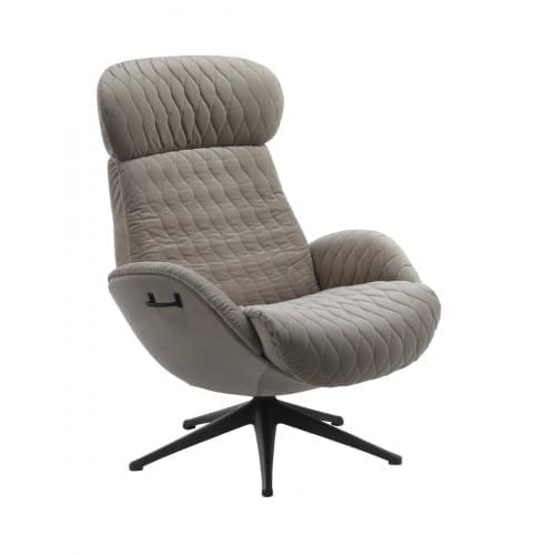 Flexlux EASE QUILT Design chair with upholstered shell-0