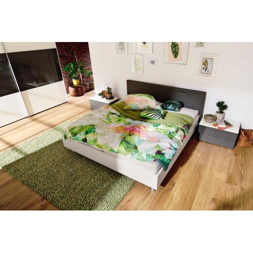Hülsta TIME bedframe with upholstered headboard, B,180-200-0