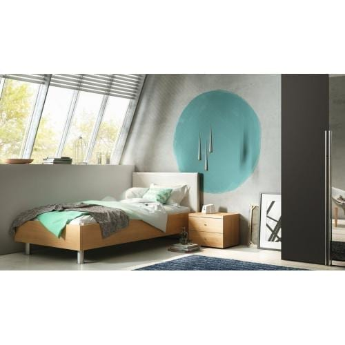 Hülsta TIME bedframe with upholstered headboard, B,180-200-6729