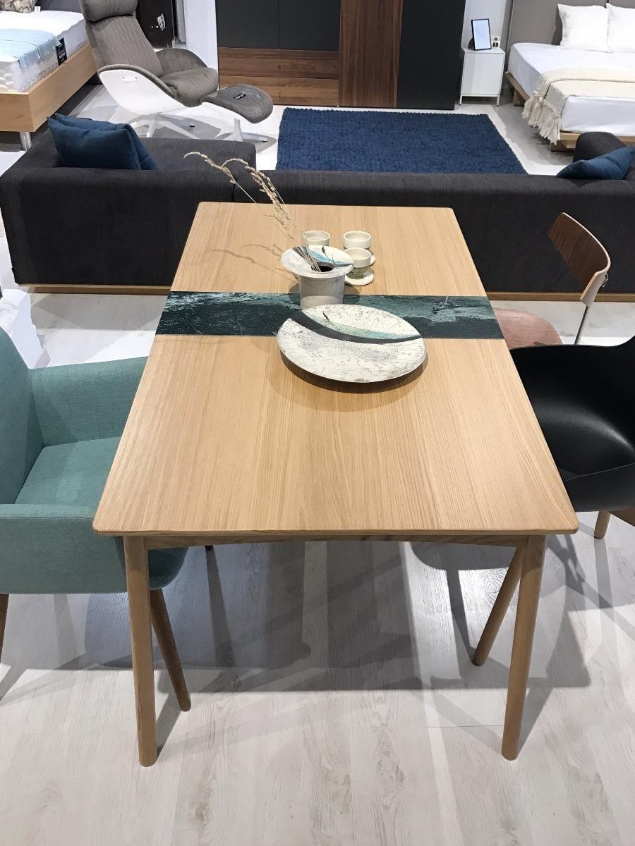 MEET Étkezőasztal 140 cm + MEET Gránitlappal bővítve - Bemutatótermi bútor-7051