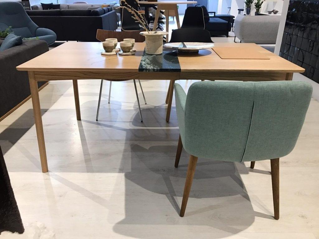 MEET Étkezőasztal 140 cm + MEET Gránitlappal bővítve - Bemutatótermi bútor-7052