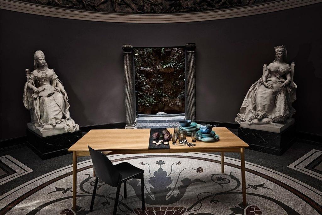 MEET Étkezőasztal 140 cm + MEET Gránitlappal bővítve - Bemutatótermi bútor-7054
