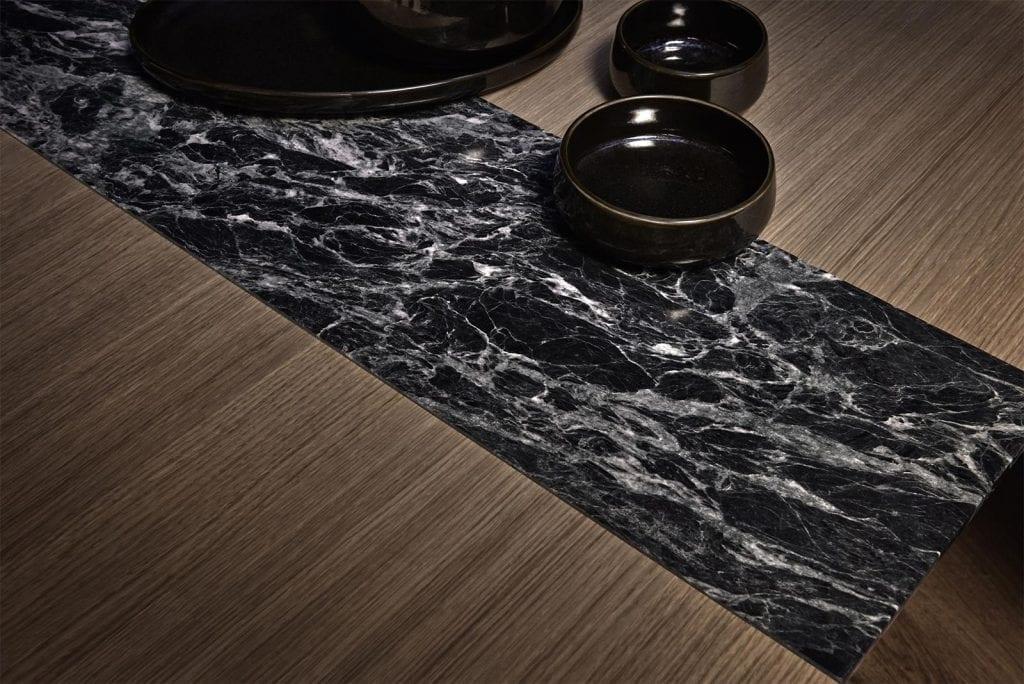 MEET Étkezőasztal 140 cm + MEET Gránitlappal bővítve - Bemutatótermi bútor-7057