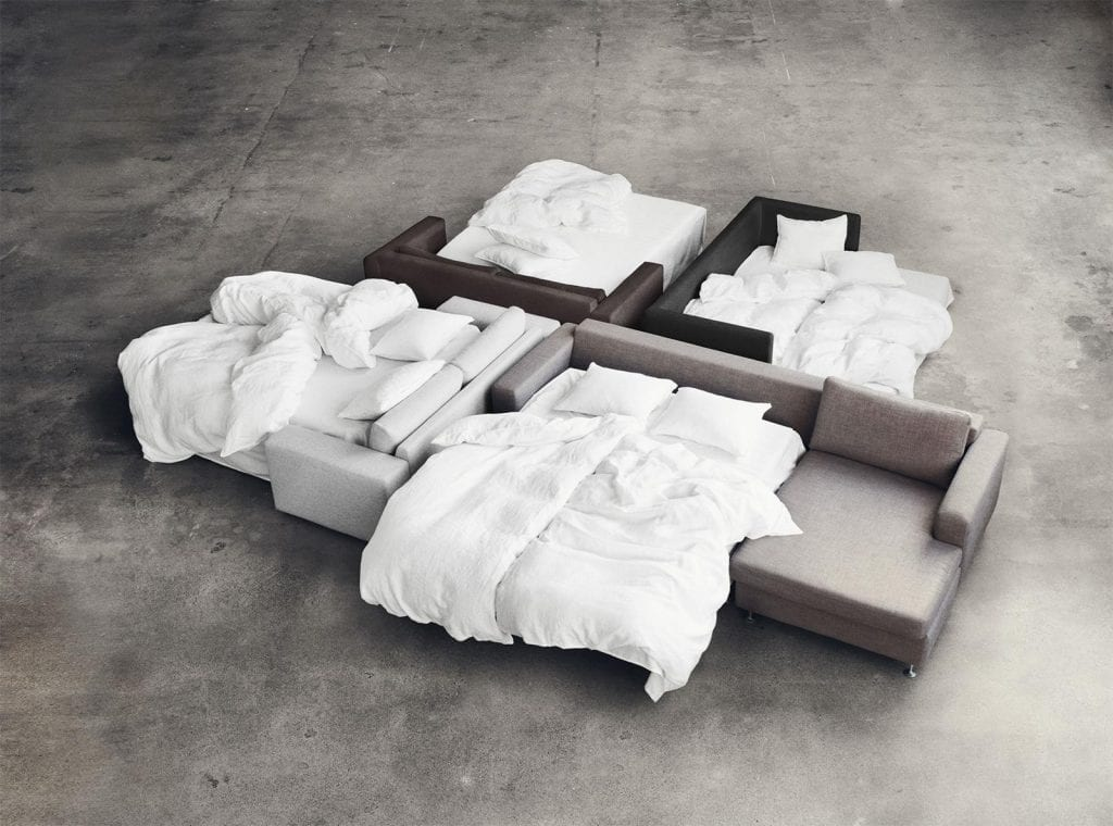 SEPIA 2½ seater sofa bed-7992