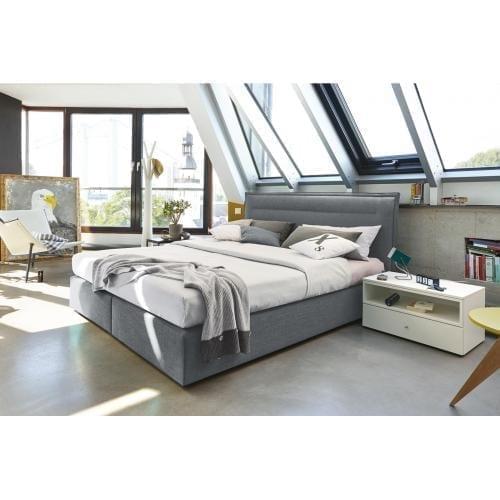 Hülsta BOXSPRING Bed C - Light grey-0